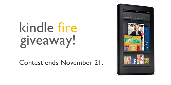 Post image for Kindle Fire Giveaway!
